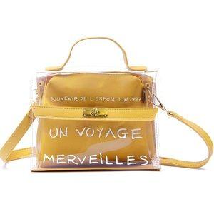 Topshop Transparent Messenger Bag